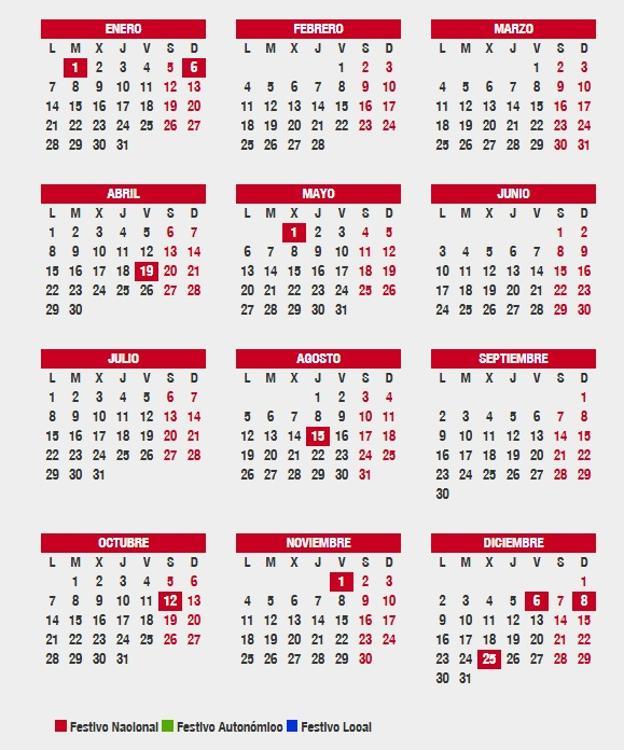 calendario laboral 2019 jaen